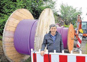 Wartet auf den Ausbau in seiner Gemeinde: Bürgermeister Wolfgang Glißmann